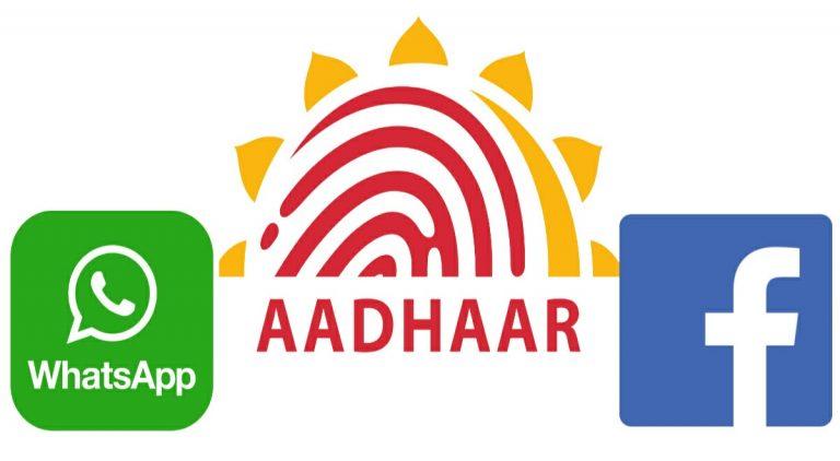 Facebook and whatsapp link aadhaar